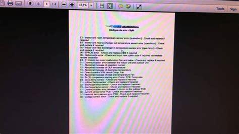 codigo error rheem ff codigo de erro ar condicionado split youtube