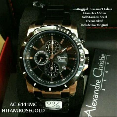 jual jam tangan pria alexandre christie  black rose
