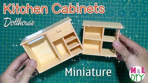 diy miniature kitchen cabinets    kitchen