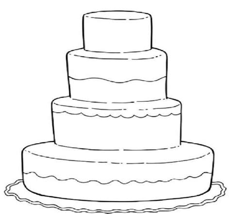 Cake Printable Coloring Pages free coloring pages of cakes