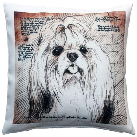 top knot shih tzu shih tzu top knot pillow 17x17