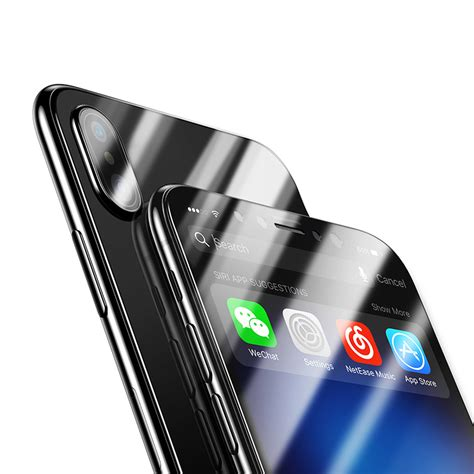 bakeey 4d curved edge cold carving tempered glass screen protector for iphone x alex nld