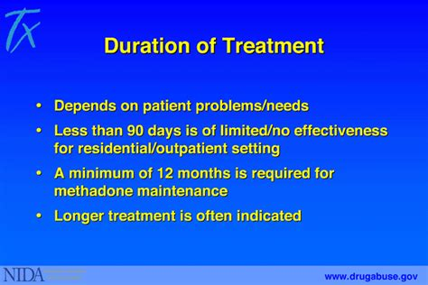 What Is Detox Treatment by 7 Duration Of Treatment National Institute On