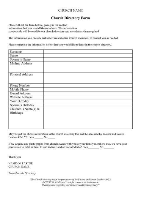 church phone directory template church contact directory stuckey