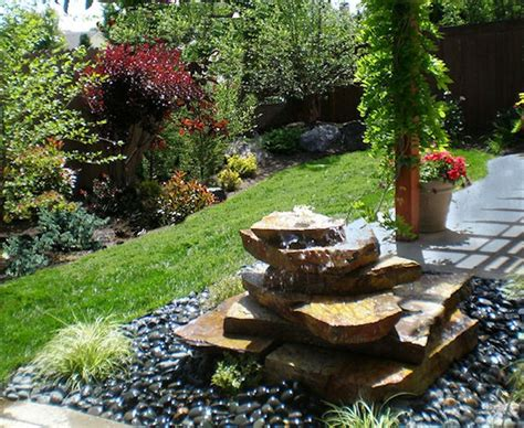 rock fountains for garden stacked rock eclectic landscape other metro