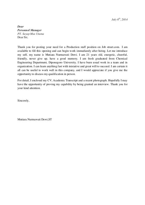 thank you letter after production supervisor application letter production stafftthytryhg
