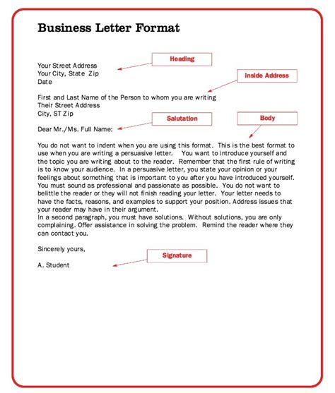 business letter spacing guide the 25 best business letter format ideas on