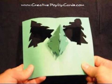 simple pyramid tree pop up card template pop up card simple pyramid tree