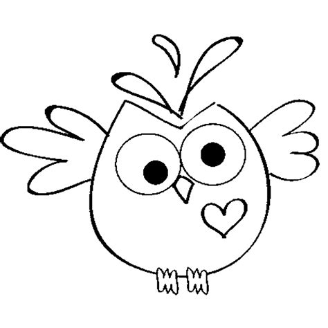 owl heart coloring page free heart owl digi st project ideas pinterest