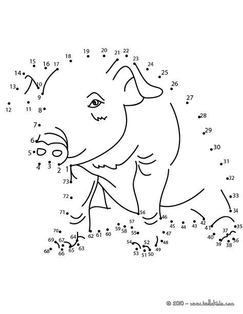 printable animal dot to dots pig dot to dot game coloring pages hellokids com