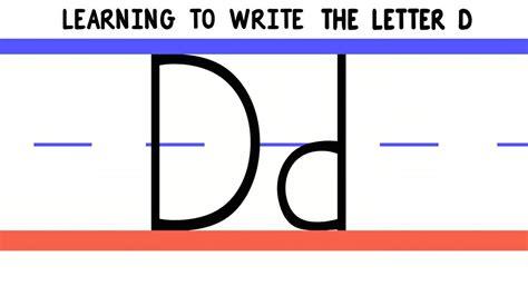 Write the Letter D - ABC Writing for Kids - Alphabet ... D