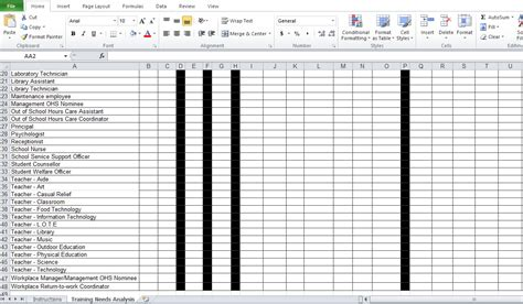 needs analysis report template needs analysis template free excel tmp