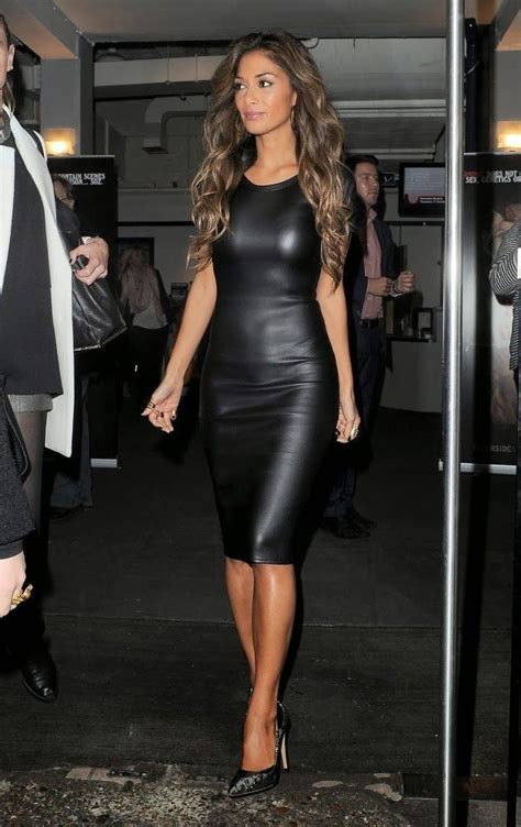 Dikel Outer 1 2 teewhy hive scherzinger in missguided clio leather cut out shoulder midi dress