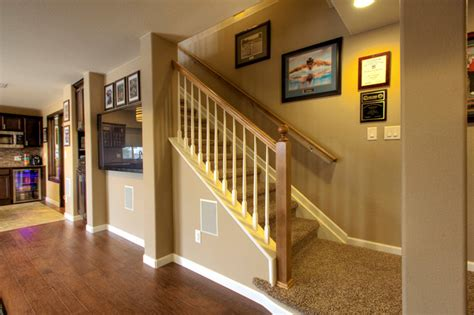 erie basement finish traditional staircase denver