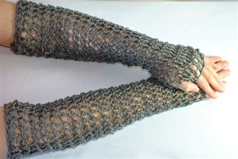 knitted chainmail pattern chain mail sleeves knitted faux maille fingerless