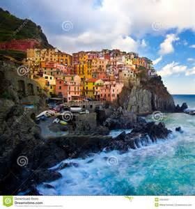 Mediterranean Beach House Plans manarola fisherman village in cinque terre italy royalty