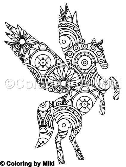 unicorn mandala coloring page  mandala coloring