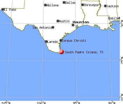 map of san padre island south padre island tx 78597 profile population
