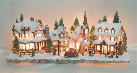 christmas village lighted houses memes