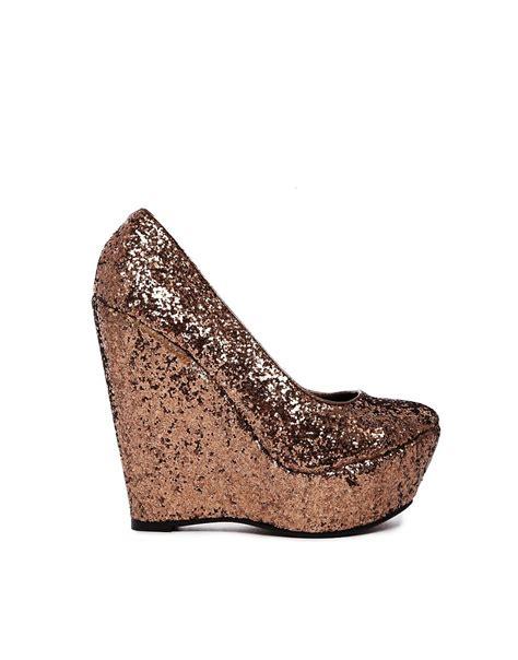 sugarfree shoes sugarfree tandy glitter wedge shoes at asos
