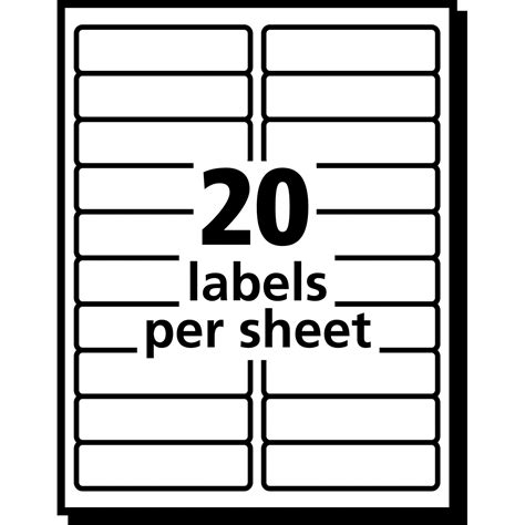 8 labels per sheet template word product ave5661 avery matte clear easy peel address labels myofficeinnovations
