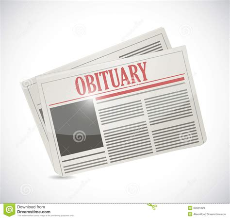 obituary section obituary newspaper section illustration design royalty