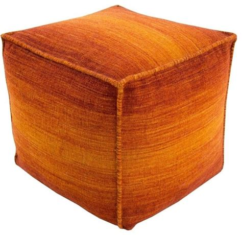 floor pillows and poufs surya chaz wool cube pouf ottoman olive contemporary