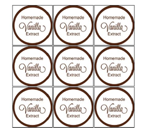 printable vanilla labels homemade vanilla extract and more