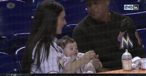 jose fernandezs daughter visits marlins park miami teammates      pitchers