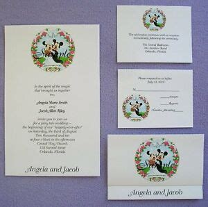 100 personalized custom mickey and minnie disney wedding invitations set ebay