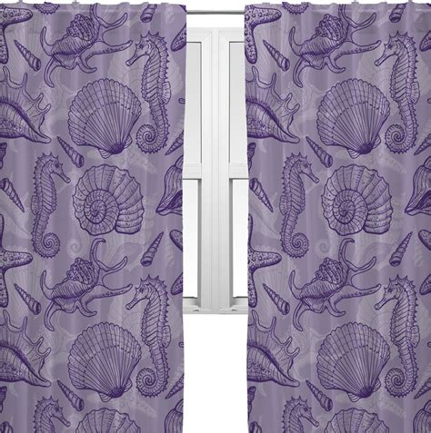 curtains with seashells sea shells curtains 56 quot x80 quot panels unlined 2 panels