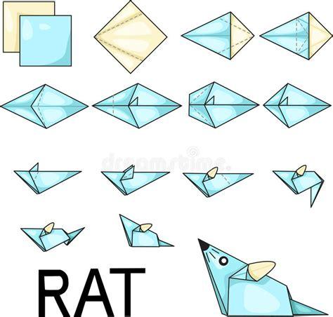origami illustrator origami rat stock vector image of graphic concept