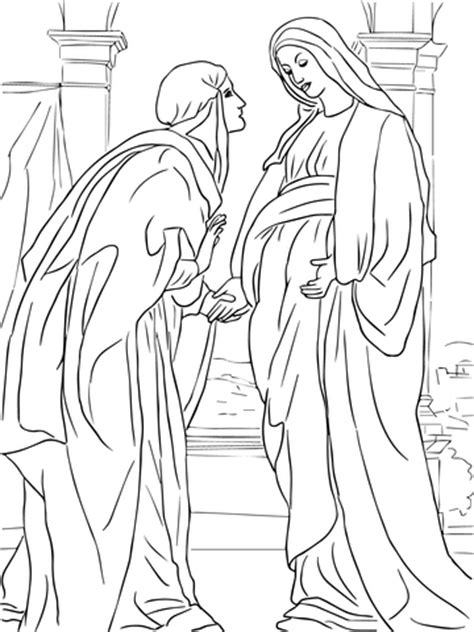 Visits Elizabeth Coloring Page visitation of to elizabeth coloring page