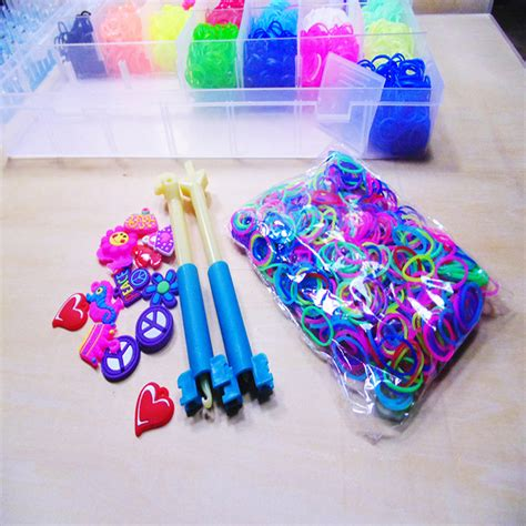 Loom Bands Refill 4400pcs rubber band bracelet refill kit rainbow loom bands colorful diy tool set ebay