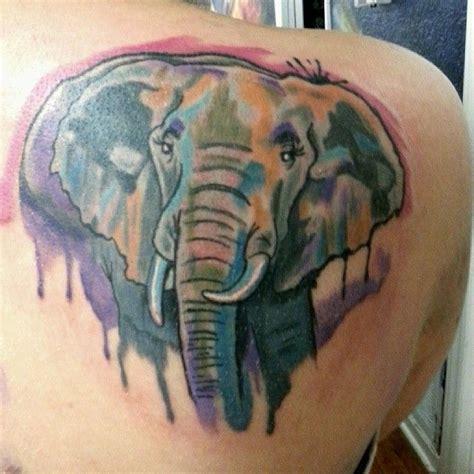 watercolor elephant tattoo elephant watercolor tattoo design tattoos