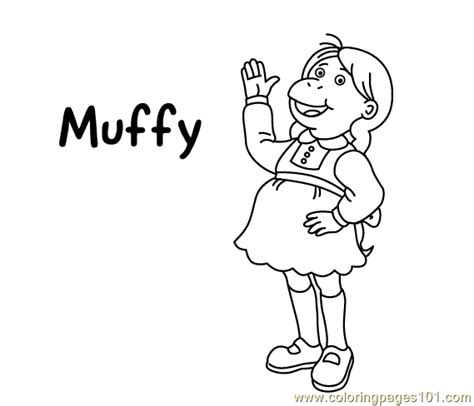 Muffy Coloring2 Coloring Page Free Arthur Coloring Pages Arthur Colouring Pages