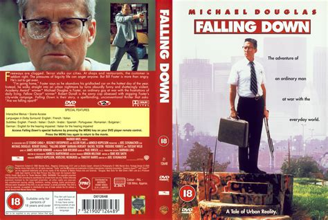 Falling Down 1993 Film Falling Down 1993 R2 Movie Dvd Cd Label Dvd Cover Front Cover