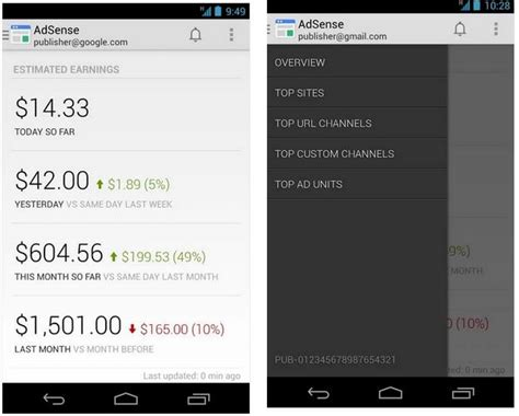 google adsense android app now available adsense android app now available on google play