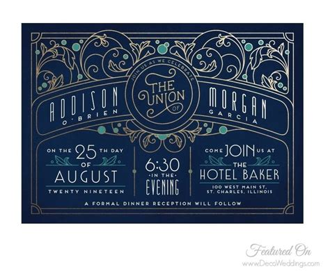 Deco Wedding Invitations by Deco Weddings Deco Designs For Modern Times