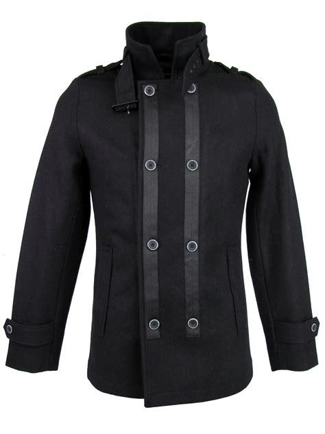 Longcoat Finny Navy Jaket Sweater 0109 mens dissident wool rich style breasted look jacket coat black ebay