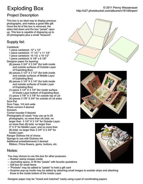 explosion box tutorial in english exploding box projecten om te proberen pinterest