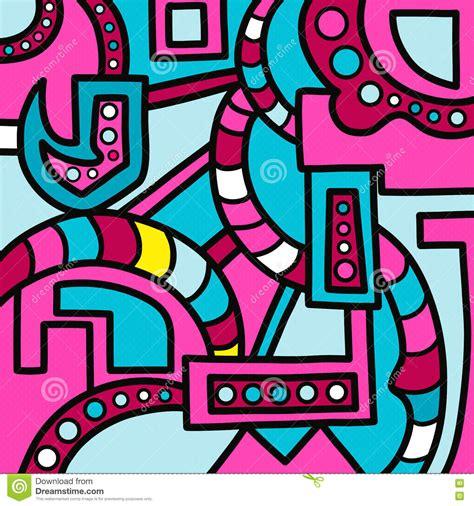 abstract graffiti pattern colorful geometric abstract pattern graffiti stock vector
