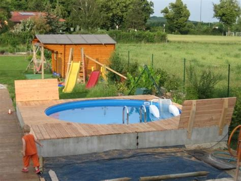 holzterrasse pool selber bauen holzterrasse pool selber