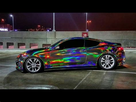 holographic car holographic chrome car holographic chrome vinyl wrap by