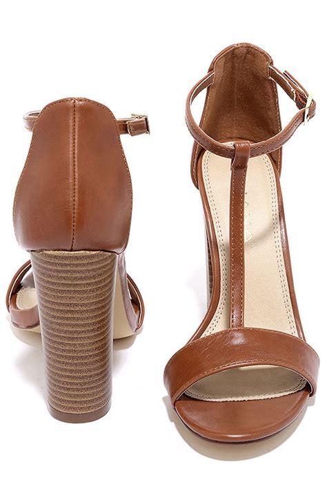 cognac high heel sandals sleek cognac heels high heel sandals t heels