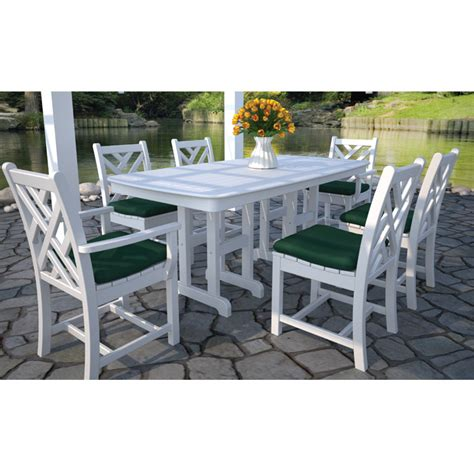 poly patio furniture polywood chippendale dining set 7 furniture for patio