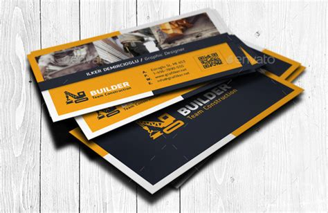 excavating business card templates 25 construction business card templates free premium