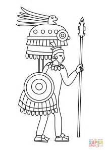 coloring pages aztec warrior