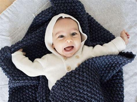 decke perlmuster babydecke im perlmuster stricken