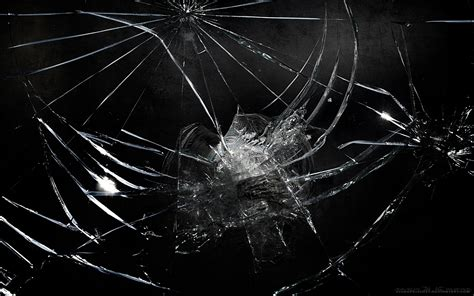 cracked screen black windows background wallpaper 45 realistic cracked and broken screen wallpapers